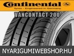 CONTINENTAL ContiVanContact 200 195/70R15 - nyárigumi - adatlap