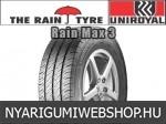 UNIROYAL RAIN MAX 3 195/70R15 - nyárigumi - adatlap